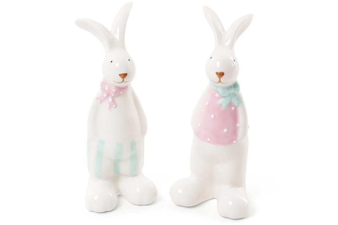 Декоративна керамічна фігурка Кролик, 2 види, 12см BonaDi 872-814