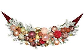 Подвесной декор из веток хвои и стеклянных шаров, 113*35cсм BonaDi RM0-112