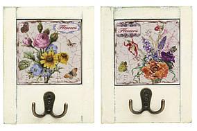 Вішалка з подвійним гачком Квіти 18см, 2 види BonaDi 487-109