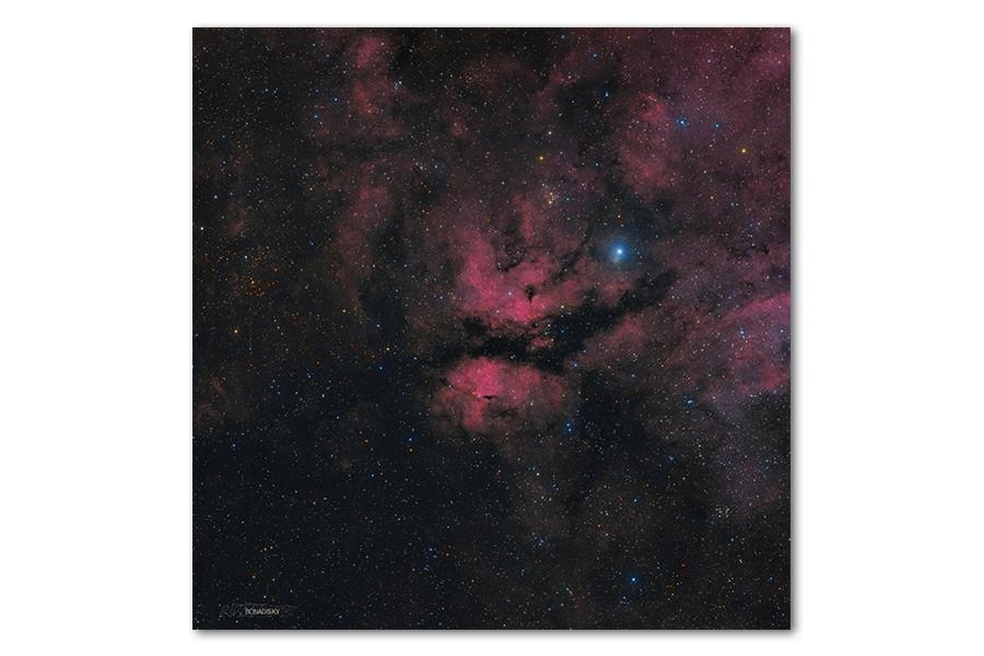 Высококачественный фотопринт Туманность Гамма Лебедя BonaDi STAR06