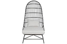 Крісло металеве Тесо з м'яким сидінням і подушкою, 152см, колір - чорний BonaDi TY1-208