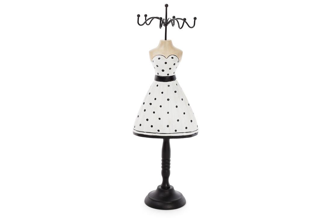 Подставка для украшений Платье 32.5см, цвет - черный с белым BonaDi 489-330