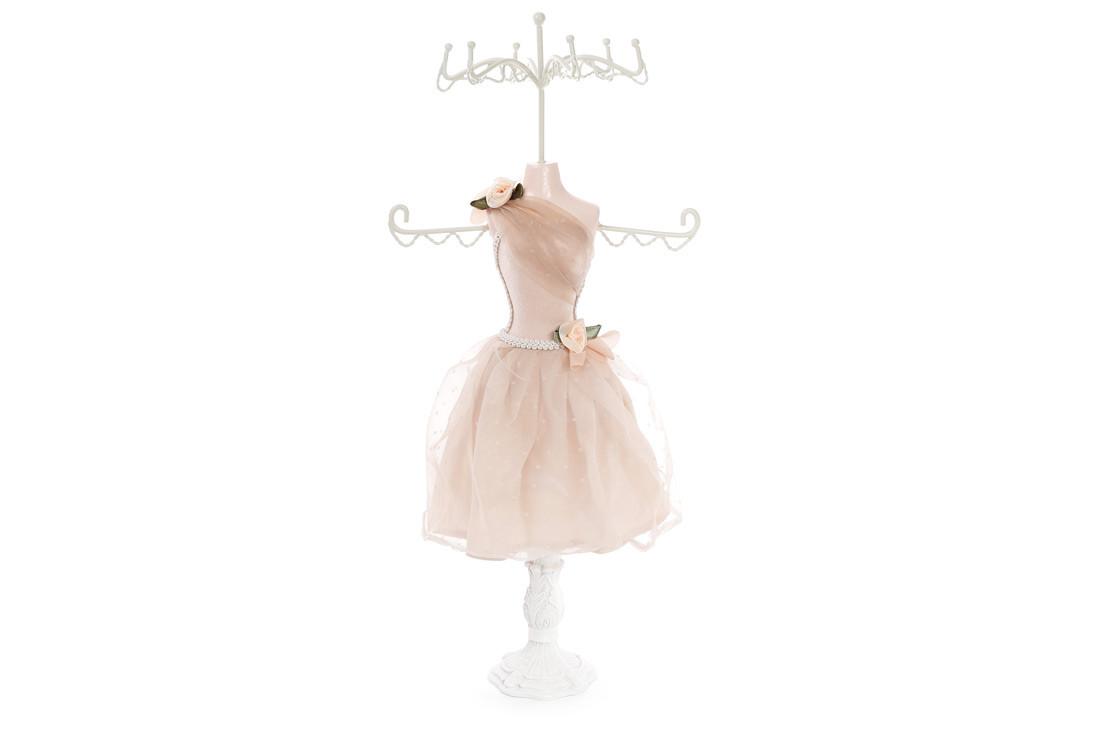 """Підставка для прикрас """" Плаття 40.5 см, колір - бежевий BonaDi 489-327"""