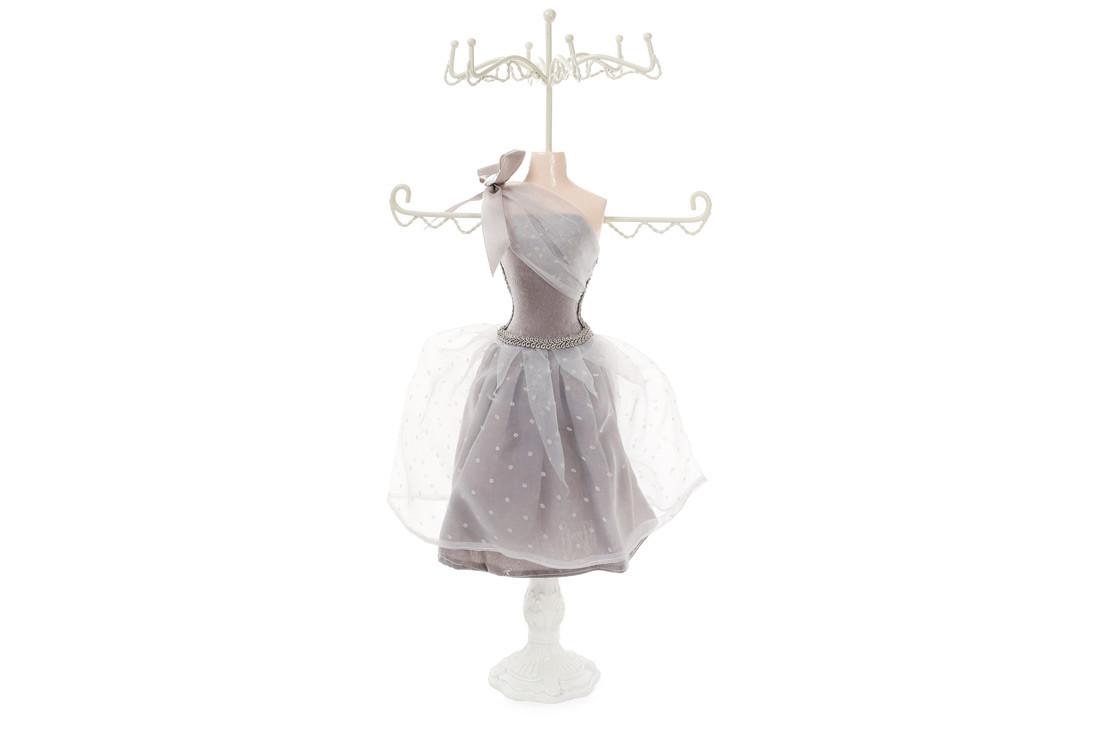 Подставка для украшений Платье 40.5см, цвет - серый BonaDi 489-328