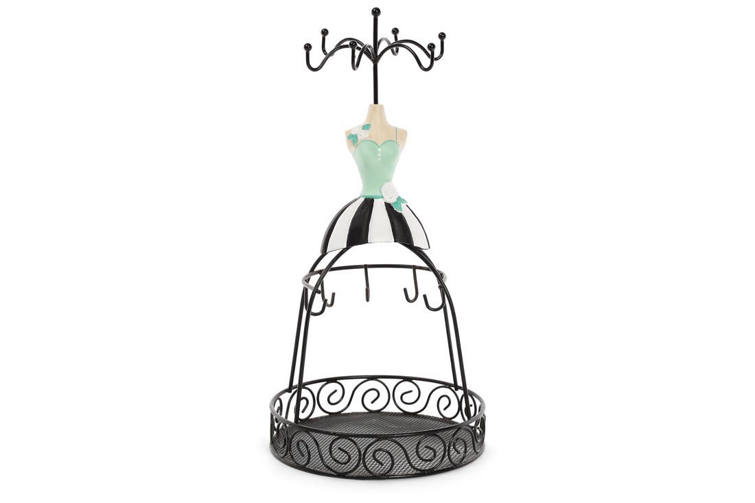 Подставка для украшений с сеткой Платье 28.5см, цвет - черный BonaDi 489-331