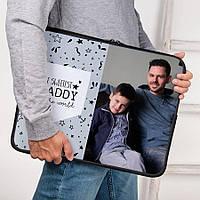 "Чехол для ноутбука (14/15"") двухсторонний с Вашим фото, логотипом, любой дизайн"