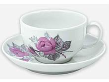 Чайна пара (Чашка 210мл з блюдцем) Янтарь Дика троянда 06351 ТМ ДФЗ