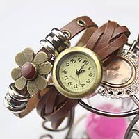Женские часы браслет с цветком, фото 1