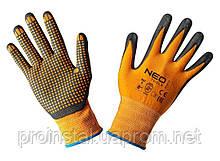 Neo Tools 97-621-8 Перчатки рабочие, нейлон с нитриловыми точками, р. 8