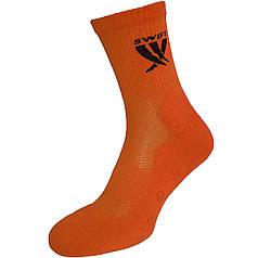 Носки спортивные SWIFT Anti-Slip PRO, оранжевые 27 p.