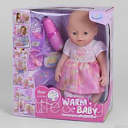 """Пупс """"Baby"""" с магнитной соской (Warm baby) арт. 058 A-033"""