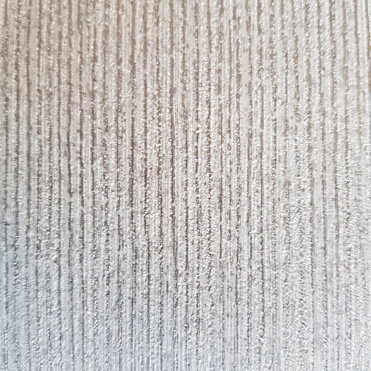 Обои виниловые на флизелине Ugepa ONYX однотонные структурные серые серебристая полоска