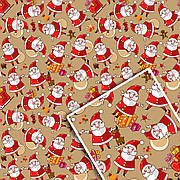 Новогодняя подарочная упаковочная бумага 70*100см 10л/уп №527