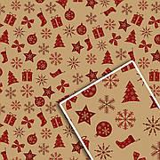 Новогодняя подарочная упаковочная бумага 70*100см 10л/уп №528