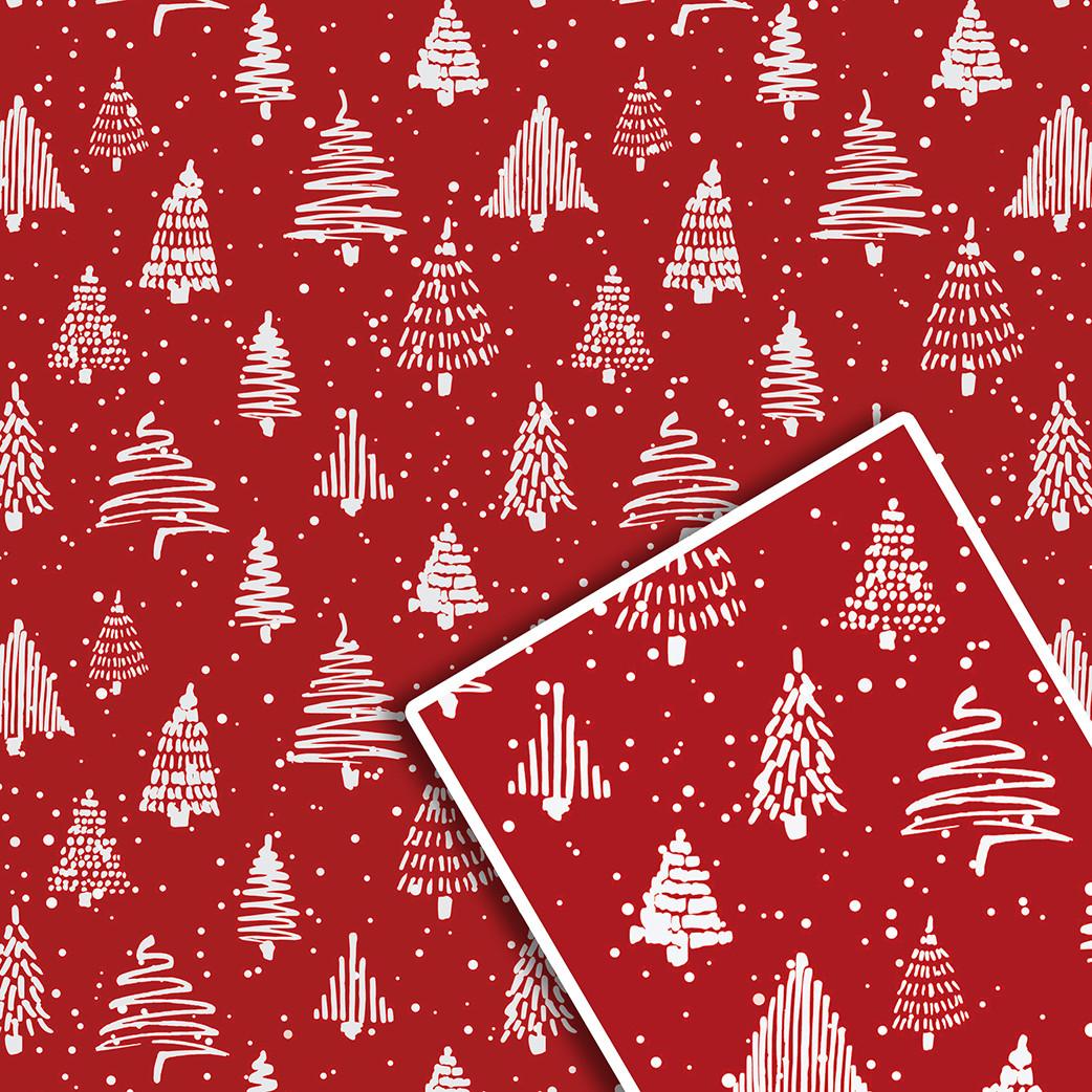 Новорічна подарункова пакувальний папір 70*100см 10л/уп №529