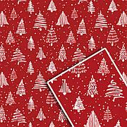 Новогодняя подарочная упаковочная бумага 70*100см 10л/уп №529
