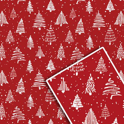 Новорічна подарункова пакувальний папір 70*100см 10л/уп №529, фото 2