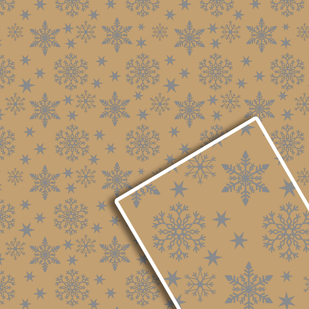 Новорічна подарункова пакувальний папір 70*100см 10л/уп №539