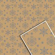 Новогодняя подарочная упаковочная бумага 70*100см 10л/уп №539