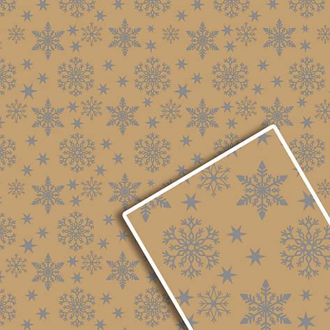 Новорічна подарункова пакувальний папір 70*100см 10л/уп №539, фото 2