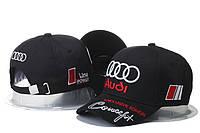 Кепка Бейсболка Мужская Женская City-A с логотипом Авто Audi Ауди Черная, фото 1