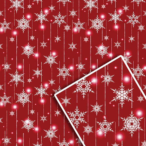 Новогодняя подарочная упаковочная бумага 70*100см 10л/уп №515, фото 2