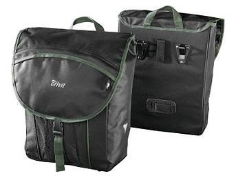 Велосипедная сумка CRIVIT PRO® на багажник черный комплект 2 шт Германия
