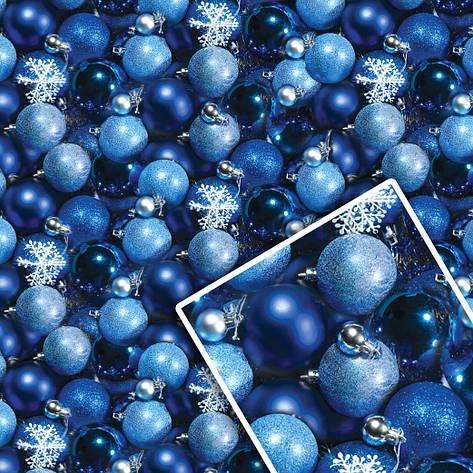 Новогодняя подарочная упаковочная бумага 70*100см 10л/уп №513, фото 2