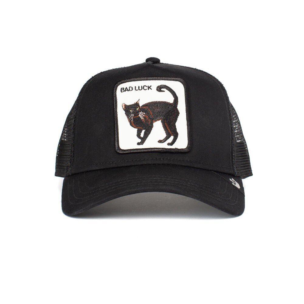 Кепка Бейсболка Тракер з сіткою Goorin Brothers Animal Farm Bad Luck Кіт з чорним Котом Чорна
