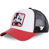 Кепка Бейсболка Тракер з сіткою Goorin Brothers Cartoons Мультик Mickey Maus з Міккі Маусом Біла
