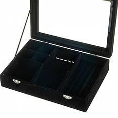 Шкатулка для украшений 20х28х6,5 см (Черный)
