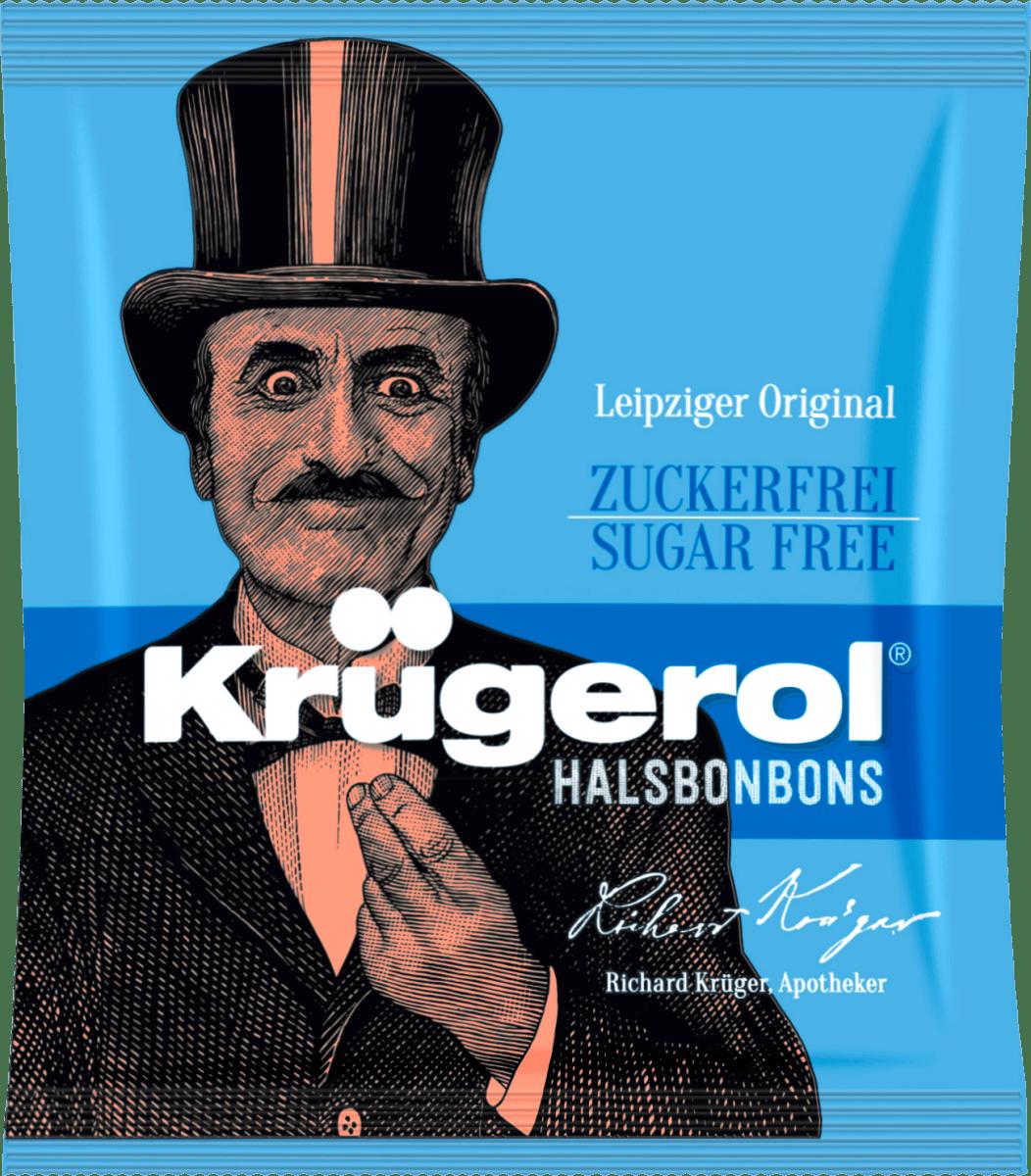 Леденцы Krugerol Halsbonbons Sugar Free 50 g