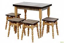 Комплект Стол + 4 табурета Вуд Мастер