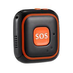 GPS трекер для ребенка портативный с кнопкой SOS Badoo Security V28, черный