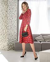 Платье стильное,Ткань: супер софт, нежная, мягкая,Верх- в-образный вырез,Низ- юбка сделана на запах(42-54), фото 1