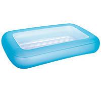 Детский надувной бассейн Bestway 51115, голубой, 165 х 104 х 25 см