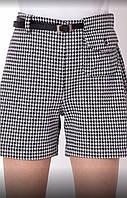 Детские трикотажные шорты для девочки с карманом Клетка 7-11 лет, цвет уточняйте при заказе, фото 1