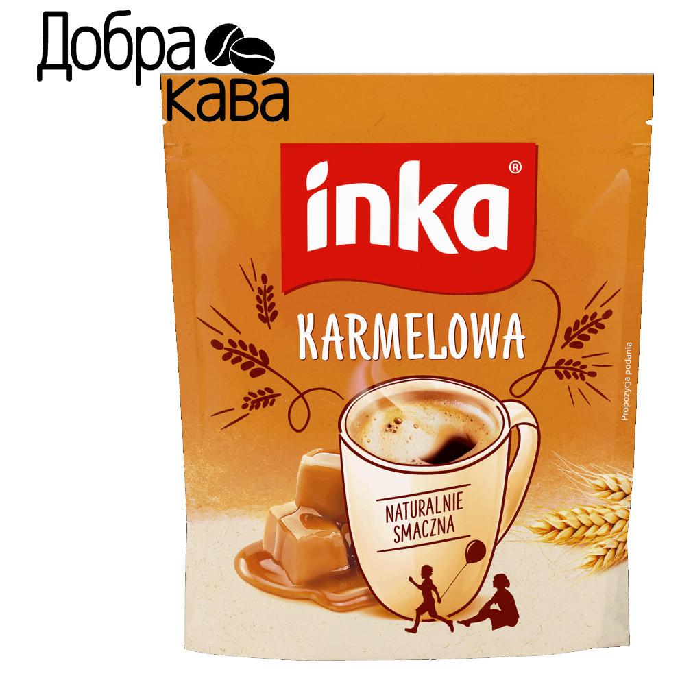 Inka Карамельная 200г ячменный кофейный напиток растворимый без кофеина