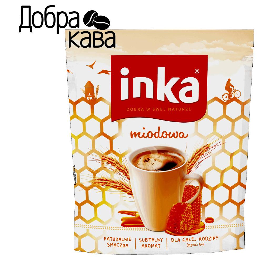 Inka Медовая 200г ячменный кофейный напиток растворимый без кофеина