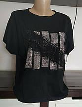 Стильная женская футболка со стразами