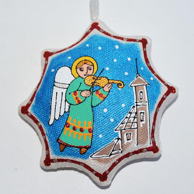 сувенир ангел с цимбалами