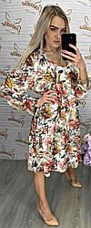 Весеннее белое платье в цветочный принт 2&Z Italy