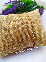 Золотая цепь снейк 585 пробы, фото 1