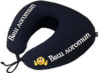 Подушка с логотипом дорожная для путешествий EKKOSEAT. Опт.