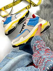 Кросівки   кеди   взуття Balenciaga Triple S 2.0 Gray Blue