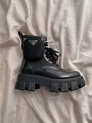 Ботинки | обувь | Кроссовки Pr@da Boots Zip Pocket Black