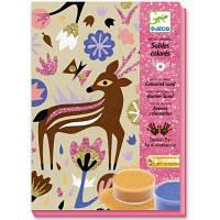 Набор для творчества Djeco рисование цветным песком Чудеса леса (DJ08662)