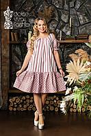 Лляне літнє плаття великий розмір 46-56, фото 1