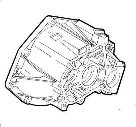 Колокол КПП Fiat Doblo 1.4i 8v