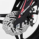 Велосипед двухколесный детский для мальчика Corso Magnesium 16 дюймов с дополнительными колесами Черный, фото 4